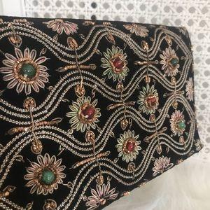 Vintage 1960's Velvet Handbag/Lipstick holder